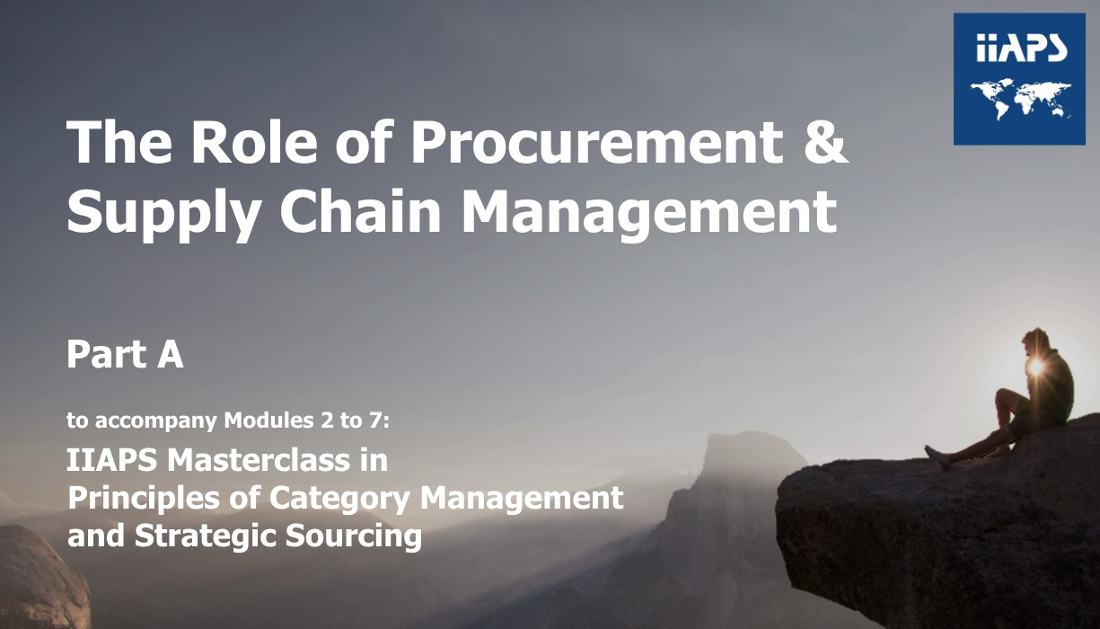 The Role of PSCM Strategic Sourcing Process